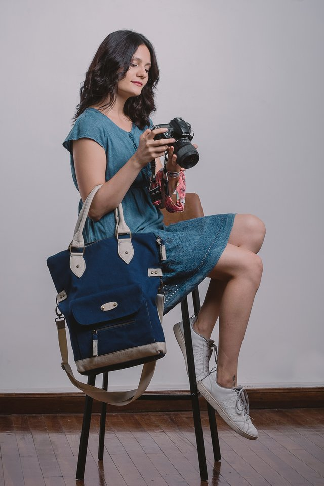 Bolso cartera Pampa - Blue navy en internet