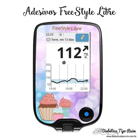 Adesivo Skin FreeStyle Libre | Cup Cake