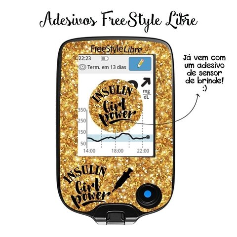 Adesivo Skin FreeStyle Libre | Insulin Girl Power
