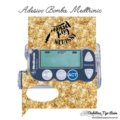 Adesivo Skin Bomba Medtronic | Insulin Girl Power