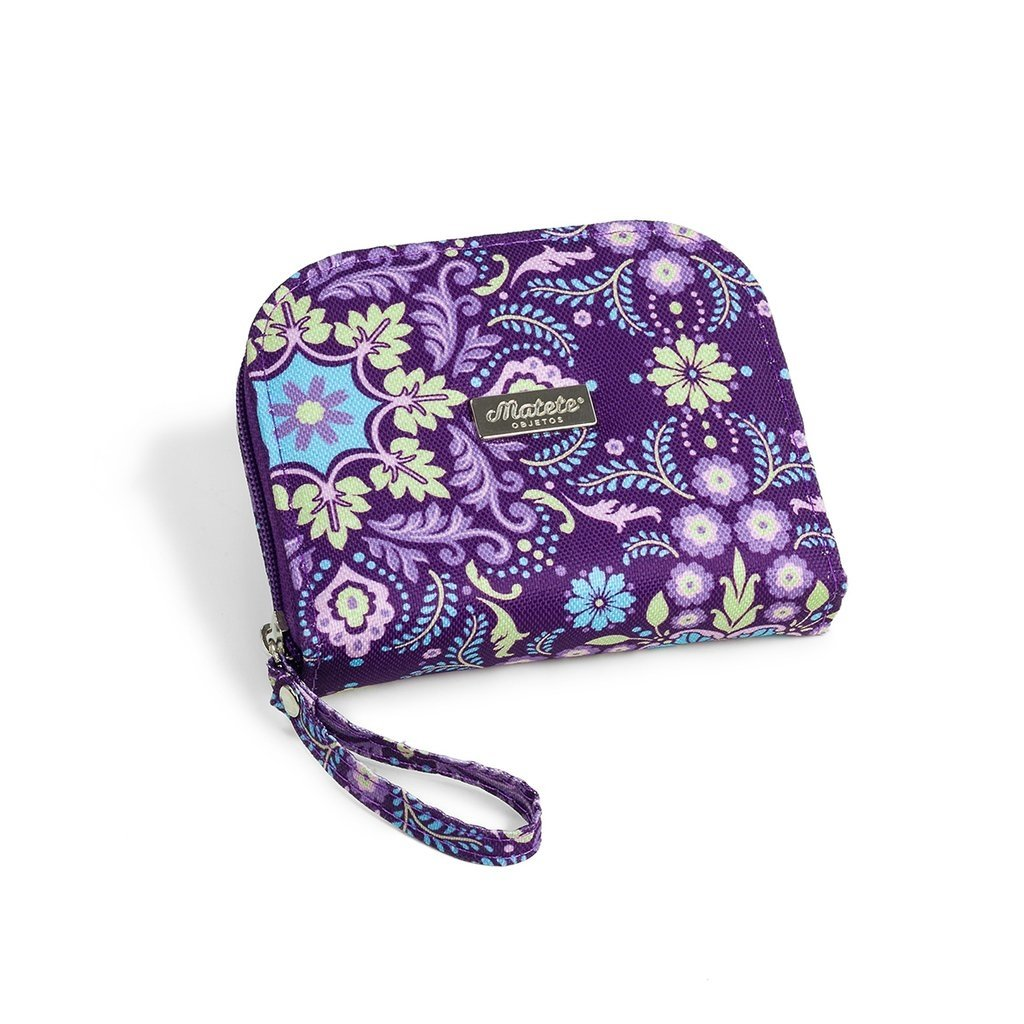 Billetera Pocket cierre Floral Trellis