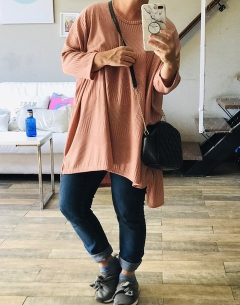 Sweaters Oversize Rosa