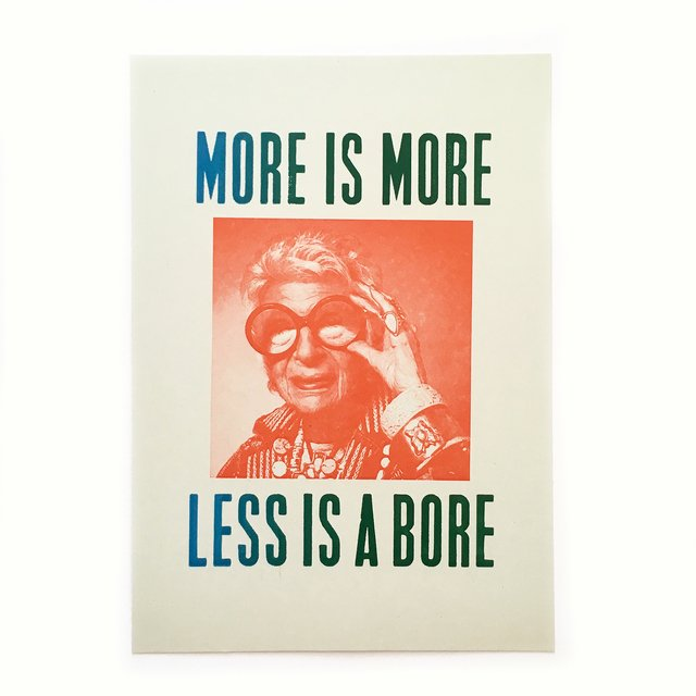 Iris Apfel: more is more less is a bore