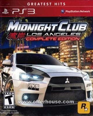MIDNIGHT CLUB: LOS ANGELES PS3 USADO