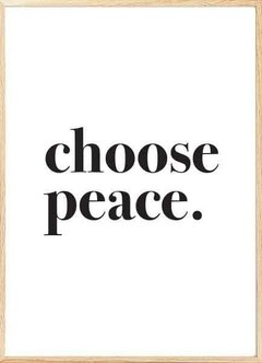 CHOOSE PEACE - comprar online