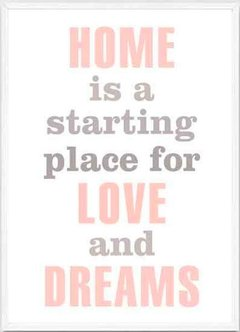 "(38) CUADRO ""HOME IS A STARTING PLACE"" - comprar online"