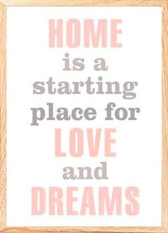 "(38) CUADRO ""HOME IS A STARTING PLACE"" en internet"