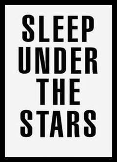 "(3) CUADRO ""SLEEP UNDER THE STARS"""