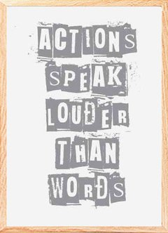 "(7) CUADRO ""ACTIONS SPEAK LOUDER"" en internet"