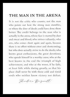 (733) THE MAN IN THE ARENA - comprar online