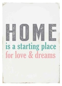 (23) HOME IS A STARTING PLACE 2 - EMOTY Wall Deco