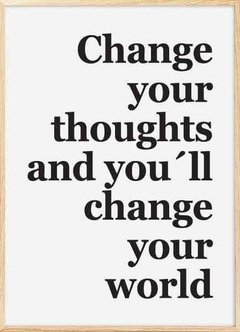 "CUADRO ""CHANGE YOUR THOUGHTS"" en internet"