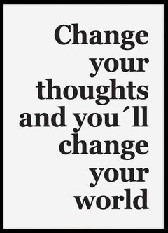"CUADRO ""CHANGE YOUR THOUGHTS"" - comprar online"
