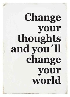 (67) CHANGE YOUR THOUGHTS - EMOTY Wall Deco