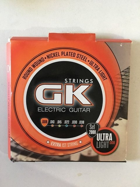 Encordado Guitarra Electrica 8 38 Gk Cuerdas