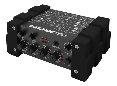 Nux Pmx2 Line Mixer Interface De Audio Mezclador