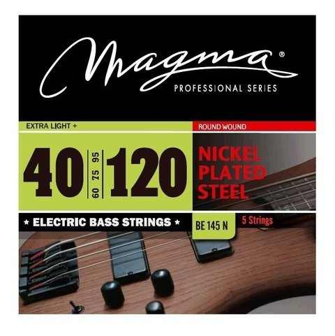 Encordado Bajo 40 120 Magma Be145n Nickel Cuerdas