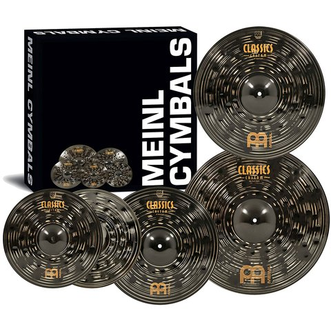 Set Platillos Meinl 14 Hi Hat 16 Crash 18 20 Crash Dark Series