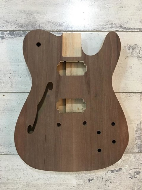 Cuerpo Telecaster Thinline Madera Cedro Y Paulowunia Luthier