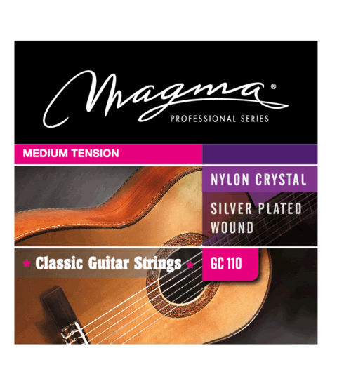 Encordado Magma Nylon Medium Tension Gc110 Guitarra Cuerdas