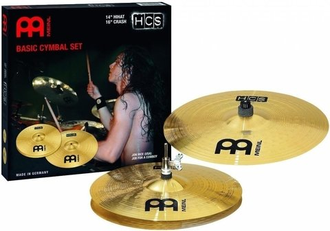 Set Meinl 14 Hi Hat 16 Crash 10 Splash Hcs1416 Hcs Series - comprar online