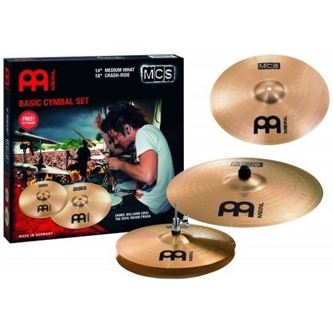Set Meinl 14 M Hi Hat 18 Crash Ride 14 M Crash Mcs1418 Mcs