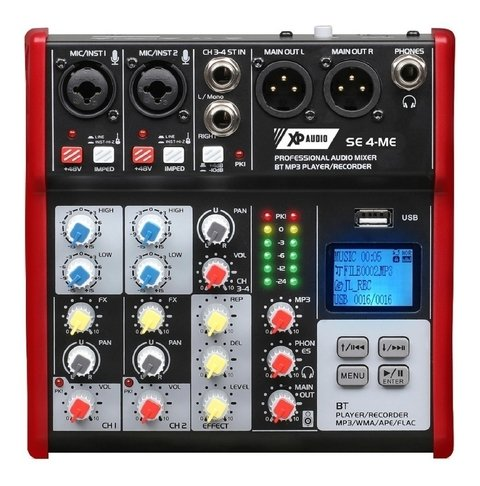 Consola Xp Audio Se4 Canales Bluetooth Mp3 Fx Grabación