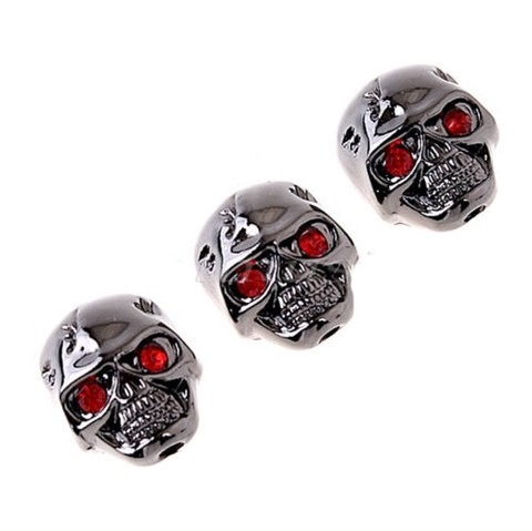 Perillas Calavera Metalicas Set