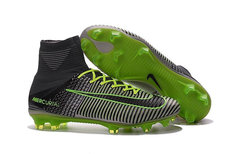 9363ef43734a0 Nike Mercurial Superfly Campo - Cinza com Verde e Preto