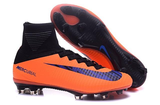Nike Mercurial Superfly Campo - Preto com Laranja e Roxo d4f18314d98bf