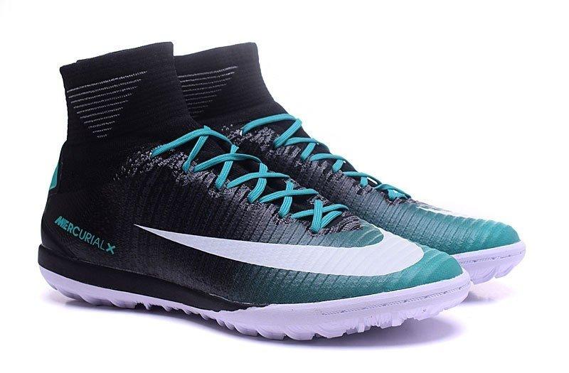 2ba1f10d12 Nike MercurialX Proximo II TF Society - Preto com Verde Escuro