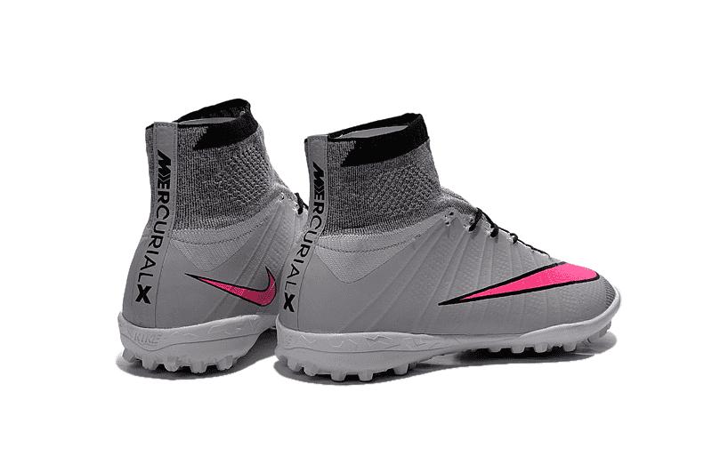 08a6d296ce Nike Gray MercurialX Proximo Street TF Society - Cinza com Rosa