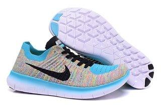 d433c5094c Nike Free RN Flyknit - Colorido e Azul Claro