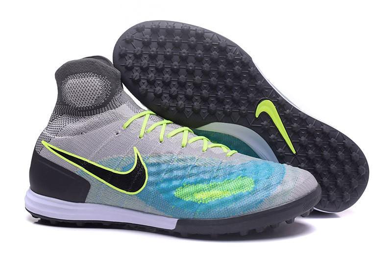 d3dfe796fa Nike Magista Obra II TF Society - Cinza com Azul e Verde