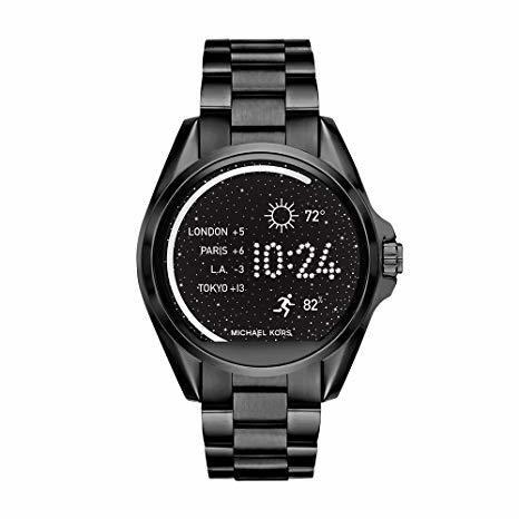 14dd32fefde6 Michael Kors Access Unisex 45mm Black IP Bradshaw Chronograph Smart Watch