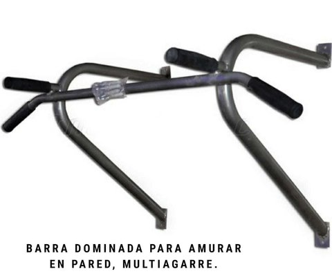 Barra Dominadas para amurar en la pared (multiagarre) - MM Fitness