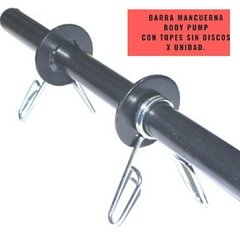 Barra Mancuerna Body Pump con topes sin discos  - MM Fitness