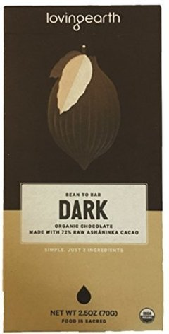 Bean To Bar Dark Organic Chocolate (80 Gr) - Loving Earth