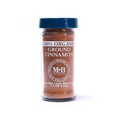 100% Organic Ground Cinnamon (62 Gr) - Morton and Bassett Spices