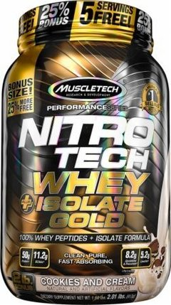 Nitro Tech Whey Isolate Gold Plus Performance Series (2 Lbs) - Muscletech