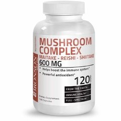 Mushroom Complex 600 mg (120 caps) - Bronson Laboratories