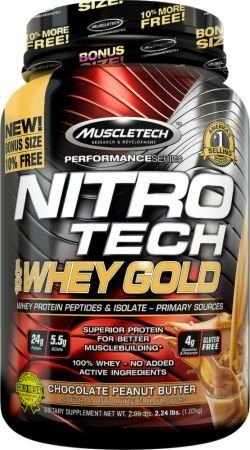 Nitro Tech Whey Gold Performance Series (2.2 Lbs) - Muscletech