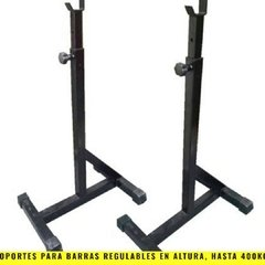 Soportes para Barras Regulable en altura (hasta 400 Kg por par) LW - MM Fitness