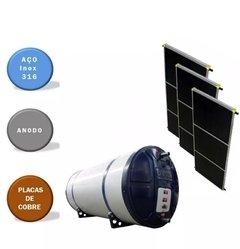 Aquecedor Solar Aço 316 Anodo 500 Litros 3 Placas De Cobre