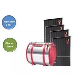 Aquecedor Solar 800 Litros Aço Inox 316 Anodo Placas Inox