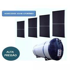 Aquecedor Solar Alta Pressão 800 L Placas inox boiler a 316