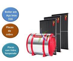 Aquecedor Solar Komeco Boiler Inox 316 500 L Placas Cobre