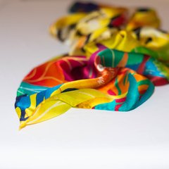 JAGUAR AMARILLO - VALISSE · 100% SILK SCARVES · A PIECE OF ART ·