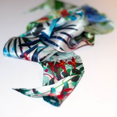 TROPICAL NOCTURNO - VALISSE · 100% SILK SCARVES · A PIECE OF ART ·