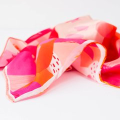 PAÑUELO ABSTRACTO DE FRUTAS - VALISSE · 100% SILK SCARVES · A PIECE OF ART ·